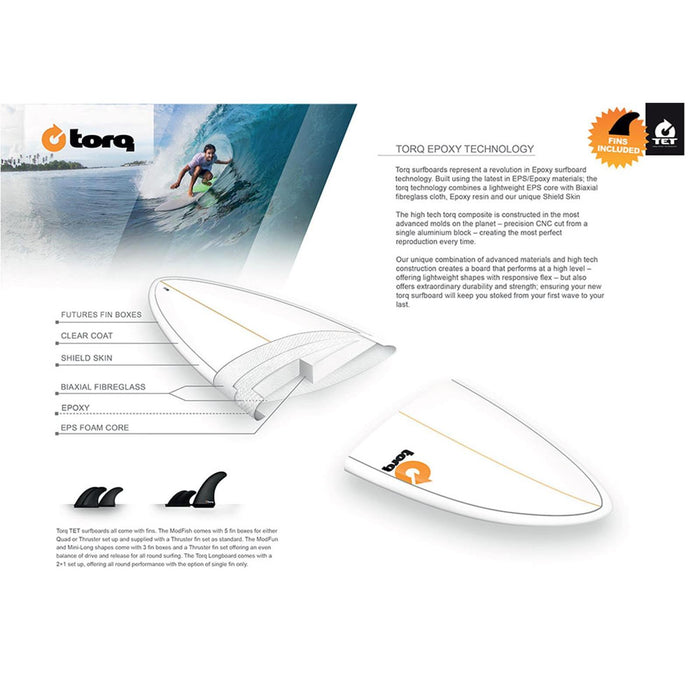 TORQ Epoxy 5.11 White & Orange Fish