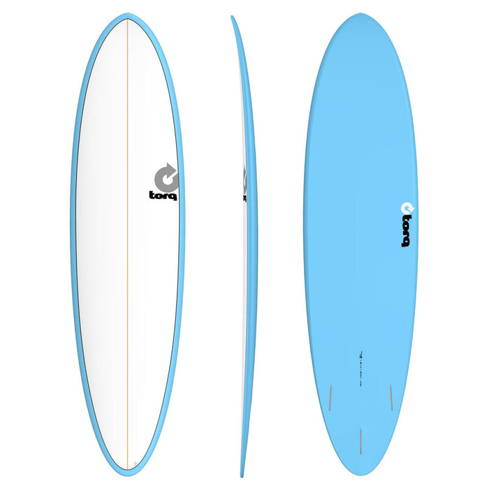 TORQ Epoxy 7.2 Funboard White & Blue Surfboard