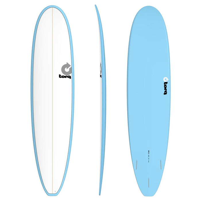 TORQ Epoxy 8.0 White & Blue Longboard