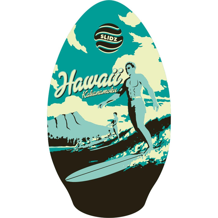 "SLIDZ 35"" Duke Black Aqua Skimboard"