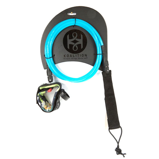 "KOALITION , 9' 0"" Blue Surfboard Knee Leash"