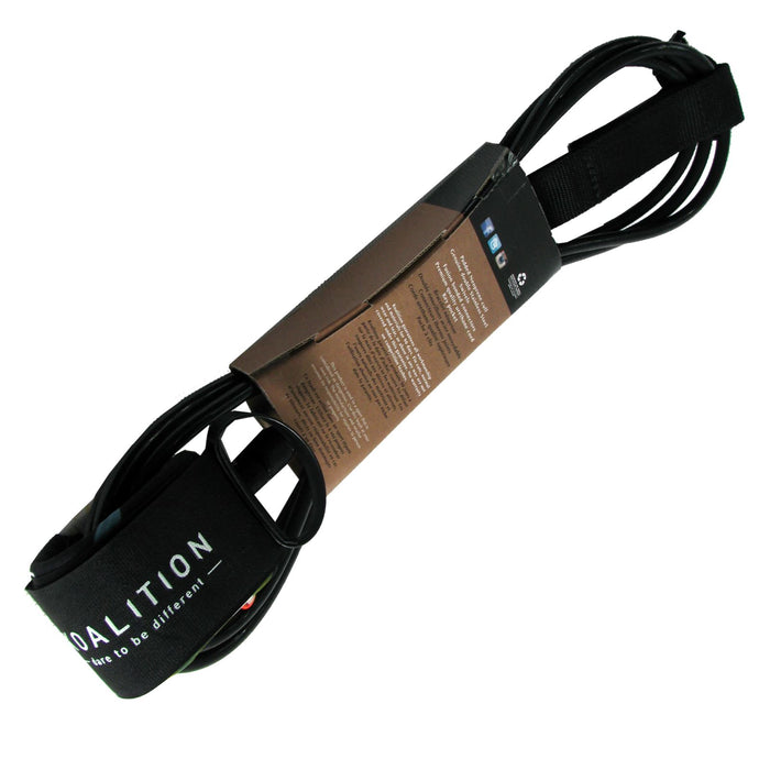 "KOALITION 8' 0"" Black Surfboard Leash"