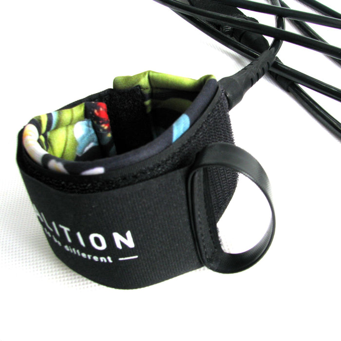 "KOALITION 9' 0"" Black Surfboard Knee Leash,"