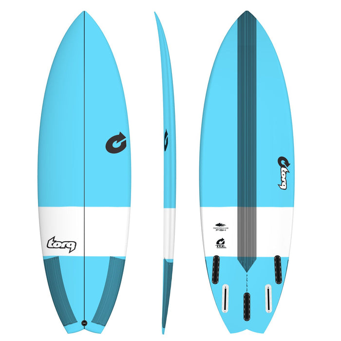 TORQ TEC Performance Fish 6.10 Blue Surfboard
