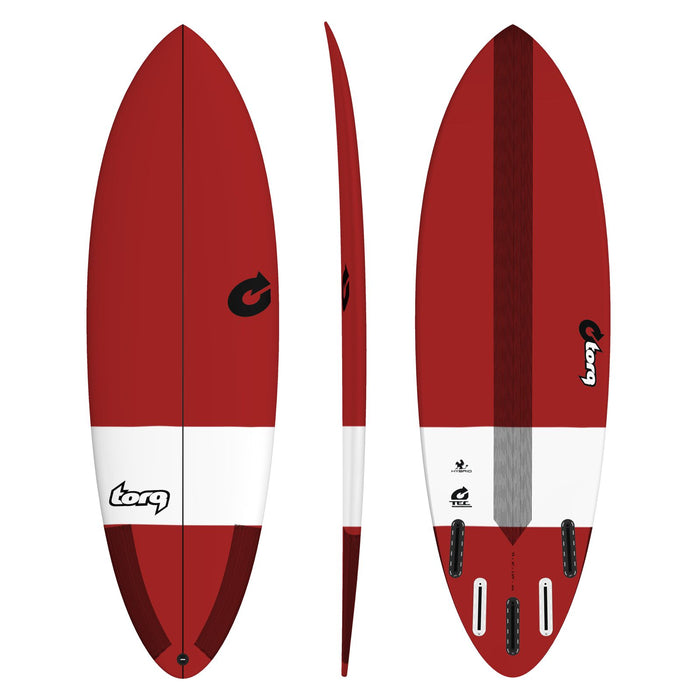 TORQ TEC Hybrid 6.0 Red Surfboard