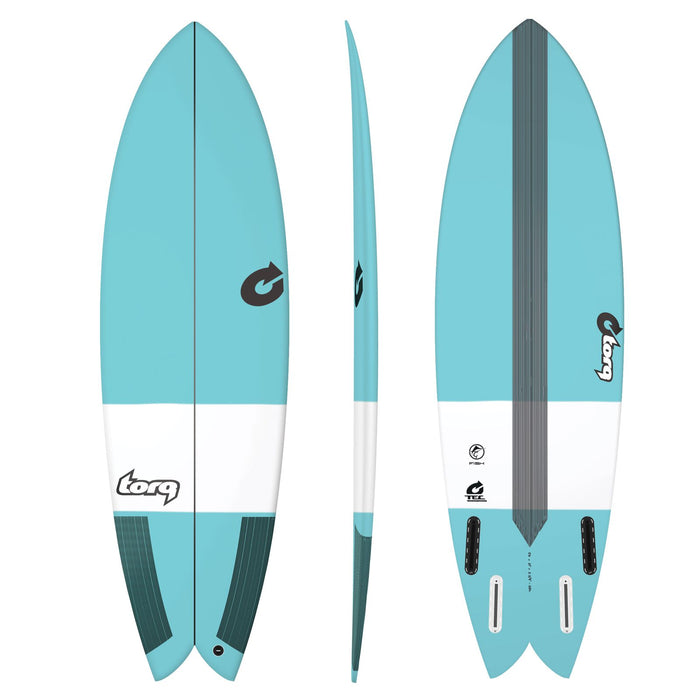 TORQ TEC Fish 5.6 Blue Surfboard