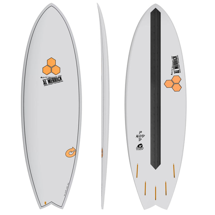 CHANNEL ISLANDS X-lite Pod Mod 6.6 Grey Surfboard