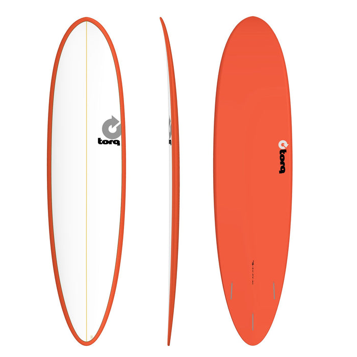 TORQ Epoxy 7.6 White & Red Funboard