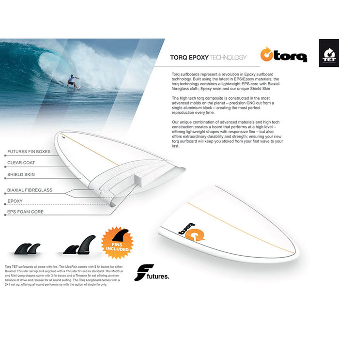 TORQ Epoxy Lines G7.6 Funboard
