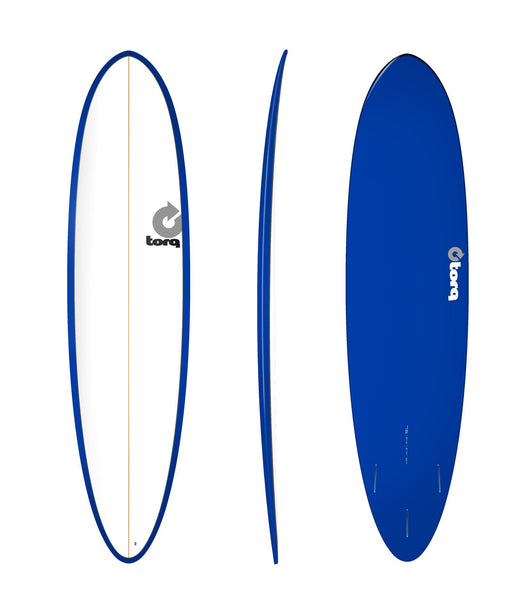 TORQ Epoxy 7.6 White & Blue Funboard
