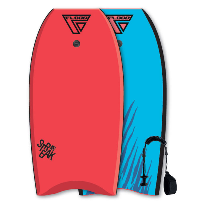"FLOOD Streak 42"" Red & Blue Bodyboard"