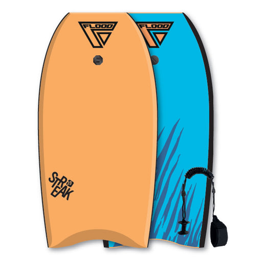 "FLOOD Streak 39"" Orange & Blue Bodyboard"