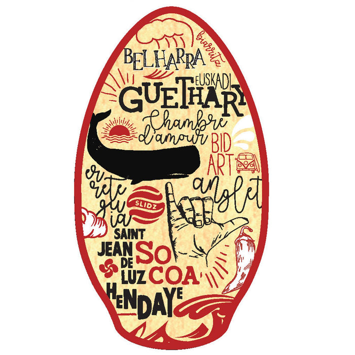 "SLIDZ Skimboars, 41"" Basque Red Skimboard"