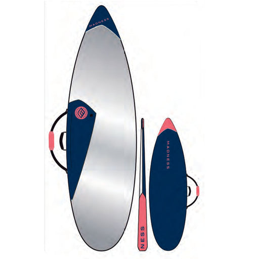 MADNESS PE 6.4 Blue & Red Shortboard Bag