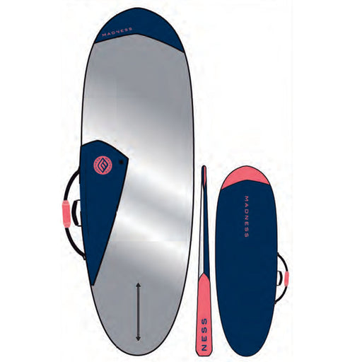 MADNESS PE 6.4 Hybrid Blue & Red Boardbag