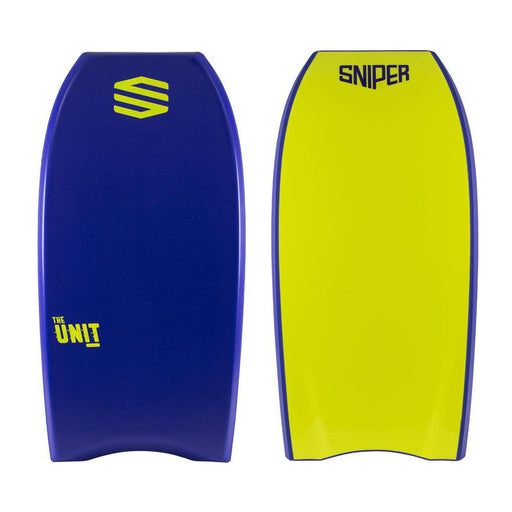 "SNIPER Unit 38"" Blue & Yellow Bodyboard"