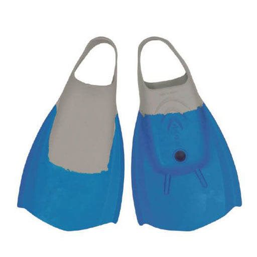 WAVE POWER L Blue & Grey Bodyboard Fins