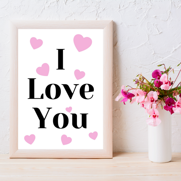 I Love You Digital Template, Love Digital Templates