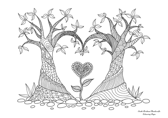 Adult Colouring Pages Heart 2