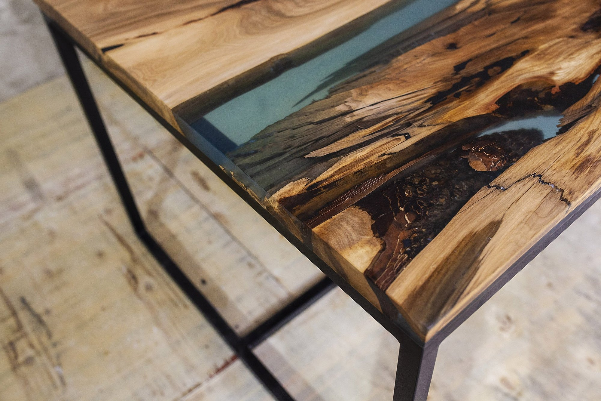 Wood Fused with Liquid Glass