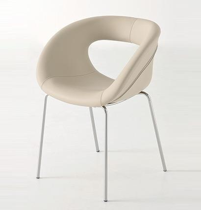 Moema Side Chair c/w Metal Legs-Gaber-Contract Furniture Store