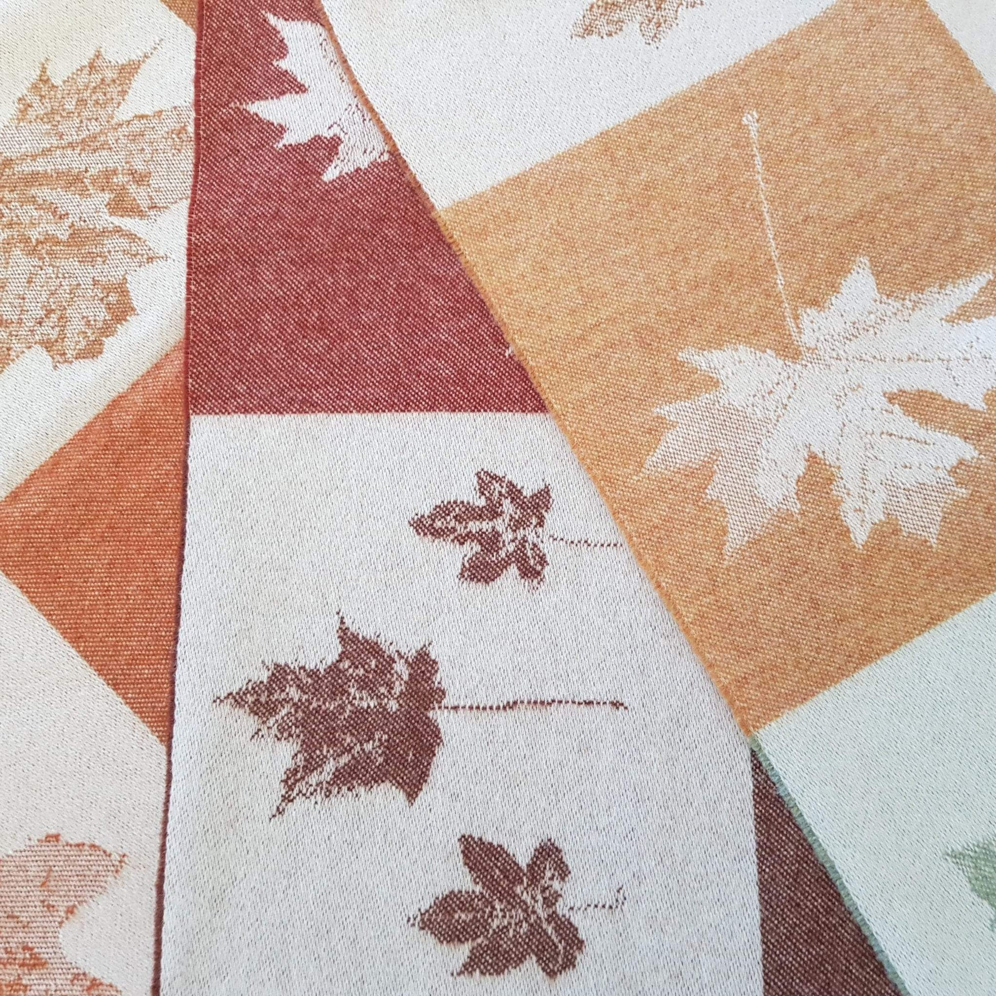 Autumnal Leaves Throw Multi-Isle Mill-Contract Furniture Store
