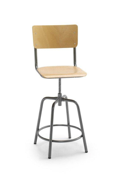Susy High Stool c/w Adjustable Height & Back-Cignini-Contract Furniture Store