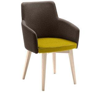 Marka Armchair c/w Wood Legs-Metalmobil-Contract Furniture Store