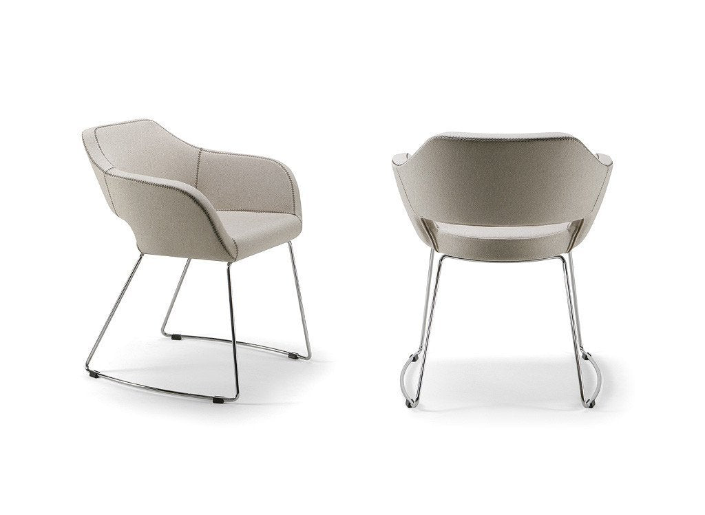 Manu 04 Armchair c/w Sled Legs-Torre-Contract Furniture Store