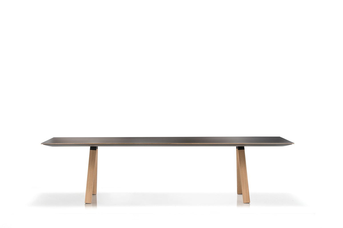Arki Rectangular Wood Dining Table-Pedrali-Contract Furniture Store