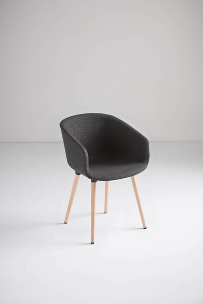Basket Armchair c/w Wood Legs-Gaber-Contract Furniture Store