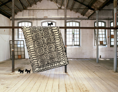 Black On White Estambul Rug-Nanimarquina-Contract Furniture Store