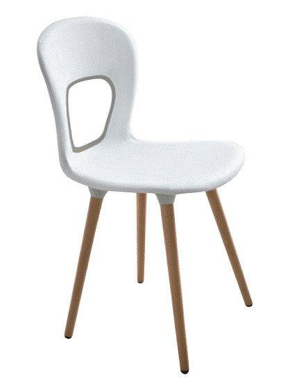 Blog Side Chair c/w Wood Legs-Gaber-Contract Furniture Store