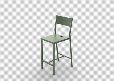 Up High Stool-Matière Grise-Contract Furniture Store