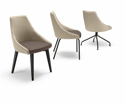 Kontea Side Chair c/w Metal Legs-Metalmobil-Contract Furniture Store