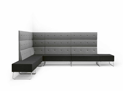 Abaco+ 1S Modular Sofa Unit-Metalmobil-Contract Furniture Store