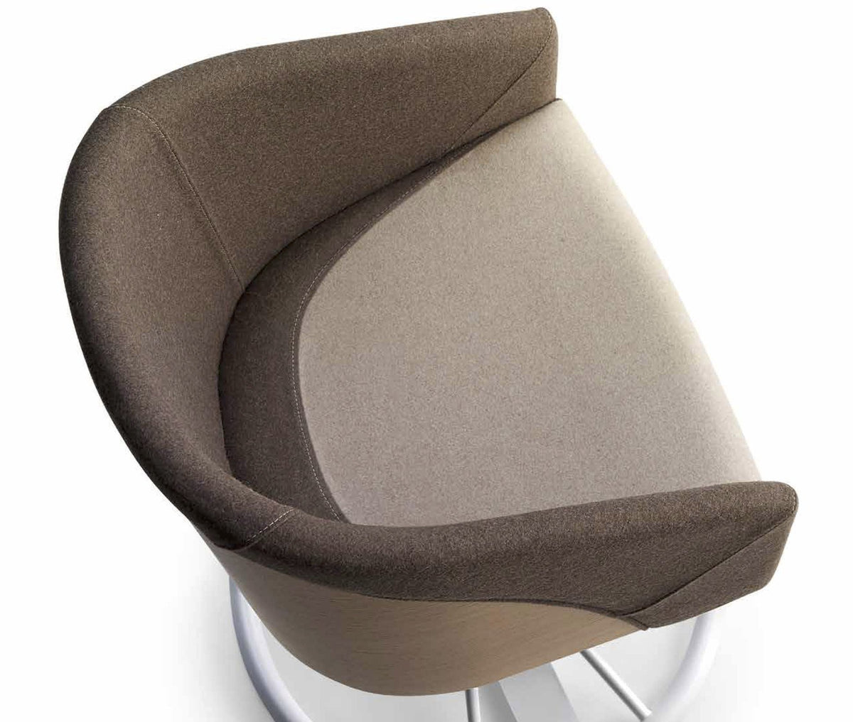 Cougar Lounge Chair c/w Swivel Base-Laco-Contract Furniture Store
