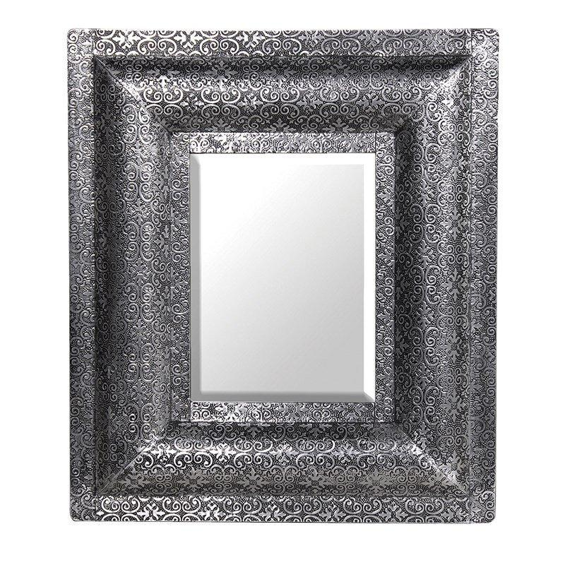 Antique Silver Embossed Mirror-Coach House-Contract Furniture Store