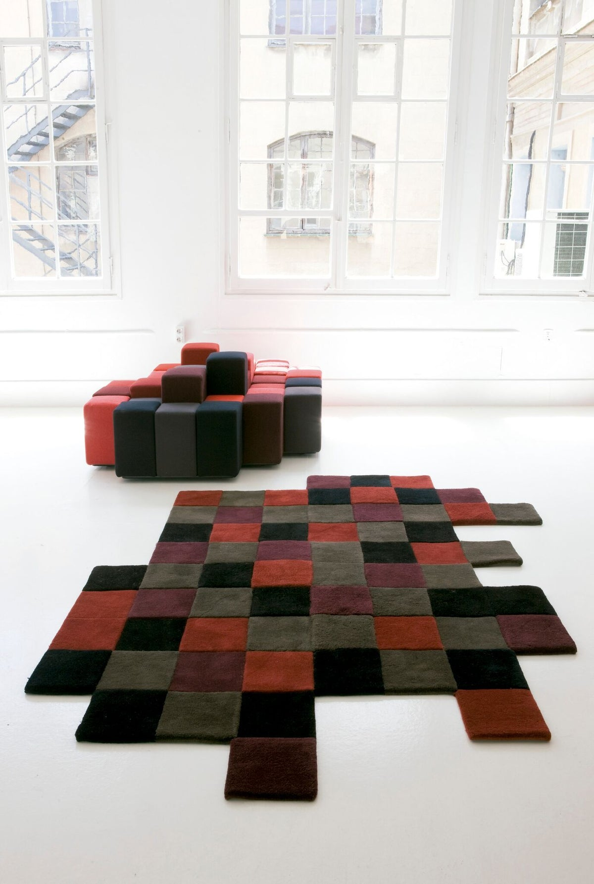 Do-Lo-Rez 2 Reds Rug-Nanimarquina-Contract Furniture Store