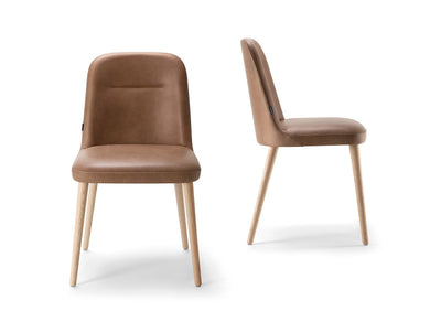 Da Vinci 01 Side Chair c/w Wood Legs-Torre-Contract Furniture Store