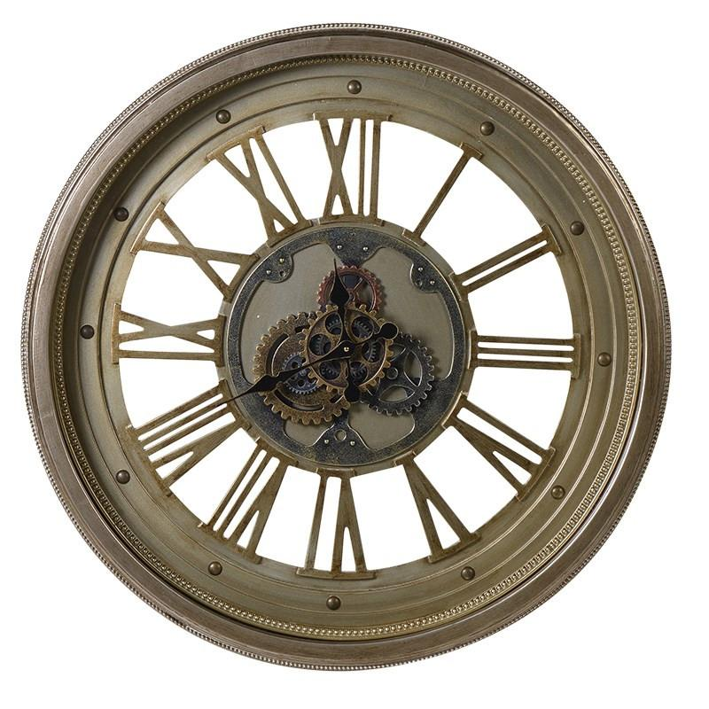 Brass Cog Wall Clock-Coach House-Contract Furniture Store