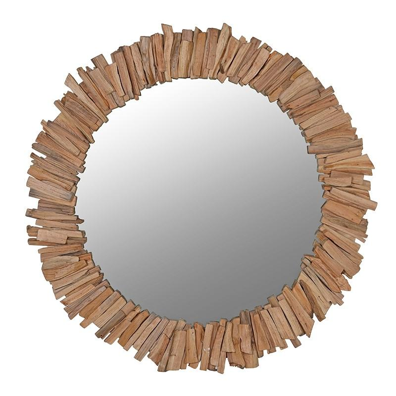 Driftwood Round Mirror-Coach House-Contract Furniture Store