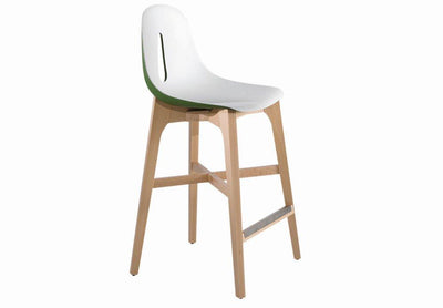 Gotham High Stool c/w Wood Legs-Chairs & More-Contract Furniture Store