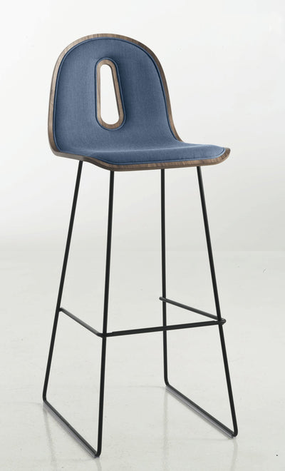 Gotham Woody High Stool c/w Sled Base-Chairs & More-Contract Furniture Store