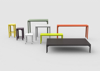 Hegoa Large Bench-Matière Grise-Contract Furniture Store