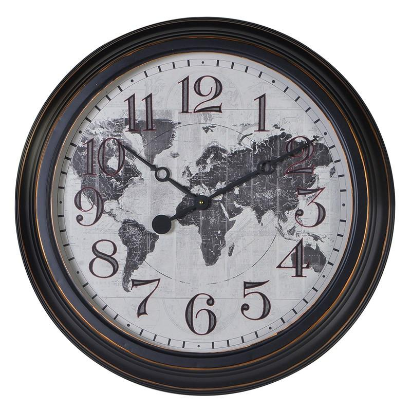 Distressed Map Wall Clock-Coach House-Contract Furniture Store