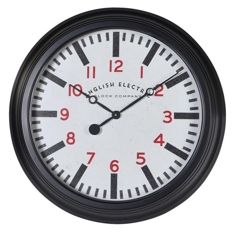 Black EE Wall Clock-Coach House-Contract Furniture Store