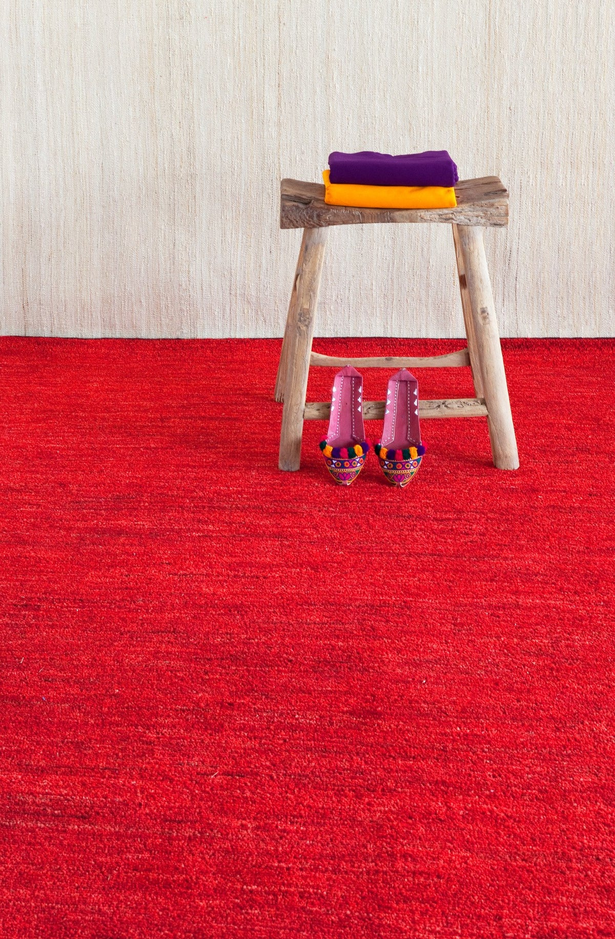 Natural Chobi Deep Red Rug-Nanimarquina-Contract Furniture Store