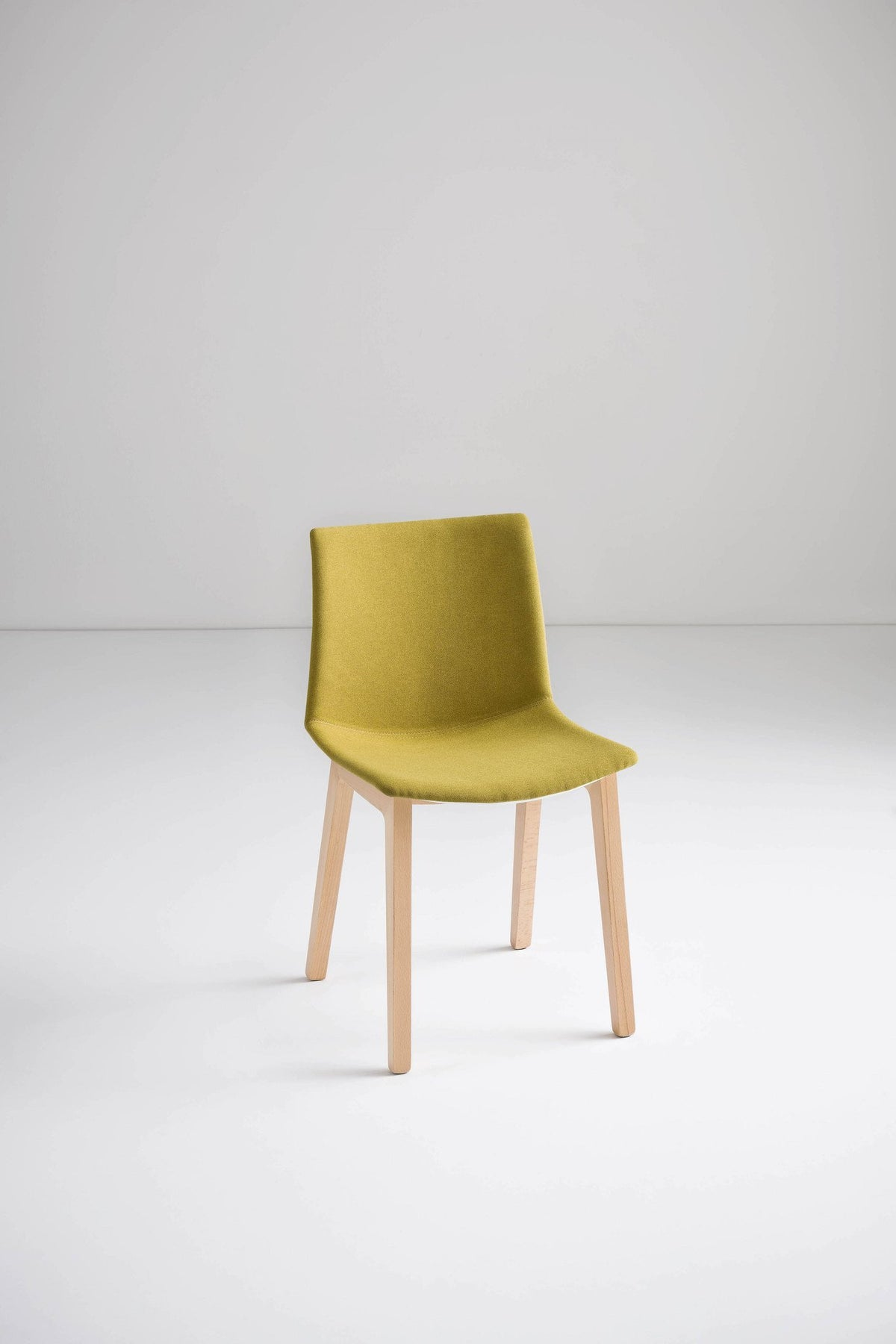 Kanvas Front Side Chair c/w Wood Legs-Gaber-Contract Furniture Store