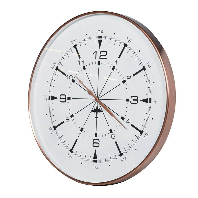 Copper A24 Wall Clock-Coach House-Contract Furniture Store